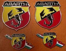 4pcs set ABARTH (FIAT) 3D metal grill fender hood emblem logo insignia decal
