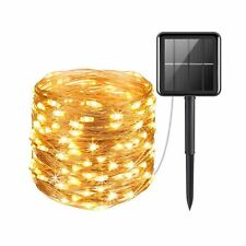 AMIR Upgraded Solar Powered String Lights, 100 LED Copper Wire Lights, Fairy ...