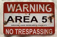 Warning Area 51 MAGNET Groom Lake Alien UFO Nevada No Trespassing Roswell fridge