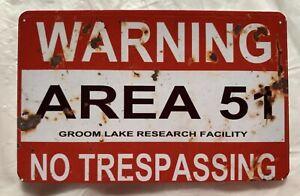 Warning Area 51 MAGNET Groom Lake Alien UFO Nevada No Trespassing Roswell fridge