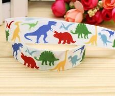 "BTY 7/8"" Cute White Dinosaurs Boys Lanyards Grosgrain Ribbon Lisa"