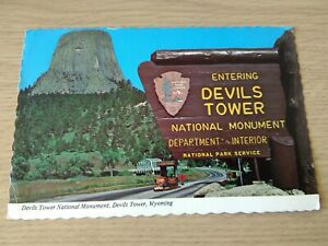 Vintage 1970's Postcard Of Devil's Tower National Monument, Wyoming, United Stat