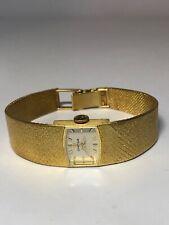 Vintage Estate Ladies Omega SOLID 18k Gold Watch w/ Mesh Bracelet