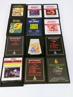 Lot of 12 Atari 2600 Games Includes Pac-Man and Q-Bert Tested