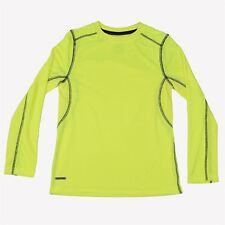 Starter Dri-Star Boys Long Sleeve Athletic Wick Tee In Neon Yellow Size M(8)