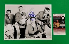 """RARE - NOKIE EDWARDS SIGNED THE VENTURES 8""""X10"""" PHOTO CERTIFIED WITH JSA COA"""