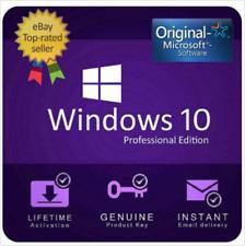 INSTANT WINDOWS 10 PROFESSIONAL PRO 32   64 BIT GENUINE ACTIVATION KEY LICENSE🔑