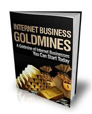 Internet Business Goldmines Ebook On CD $5.95 Plus Resale Rights Free Shipping