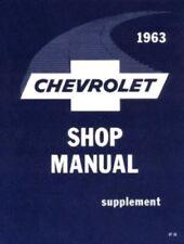 CHEVROLET 1963 Biscayne/Bel Air/Impala Shop Manual 63