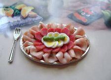 *1 dolls house food salumi  platter maison de poupée Dolls house fimo puppenhaus