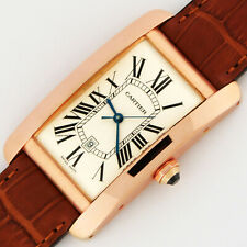 Cartier Tank Americaine Large Model Automatic 18K Pink Gold W2609156 Watch 2505