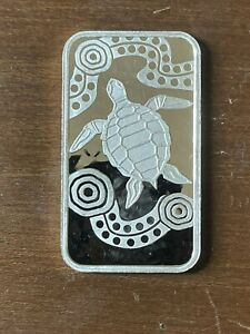 2008 Australia Perth Mint Sea Turtle Dream Series 1 oz .999 Silver Proof Art Bar