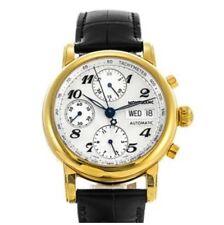 Reloj De Pulsera Mont Blanc Meisterstuck 7016 automático 18k Chapado en Oro
