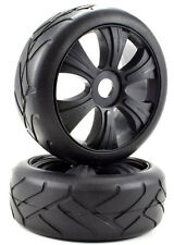 Apex RC Products 1/8 On-Road Black Aggressor Wheels / Super Grip Tires #6024