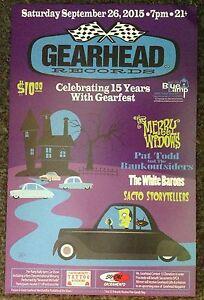 Gearhead Records Gearfest 2015 Promo Poster Ltd Ed. Punk Garage Rock Hot Rods