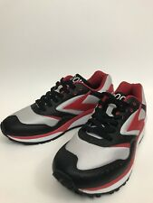 BROOKS Mens Retro Vintage Running Shoes Sample Only Rare Black Red Silver US 9