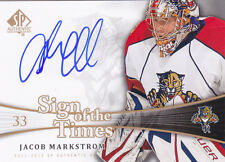 11-12 SP Authentic Jacob Markstrom Auto Sign Of The Times Panthers Canucks 2011