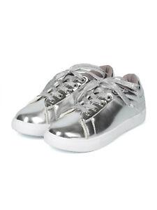 Women Mirror Metallic Lace Up Low Top Fashion Sneaker - 18074 by Yoki Collection
