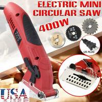 400W Electric Corded Mini Laser Circular Saw Hand Held Grinder Cutting Tool US