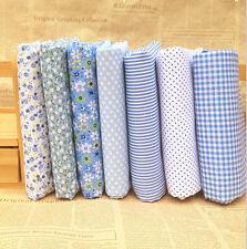 DIY Stoffpaket  Blau Quilt Stoffreste 7*( 25*25cm) 100 %25 Baumwolle
