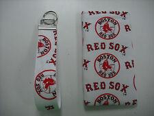 Sunglass Case & Wristlet Style Key Fob - Boston Red Sox on White - Set - NEW!