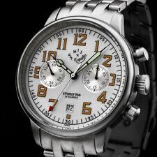 KIROVA Uhr Chronograph mechanisch POLJOT 3133 1MWF Russland Moskau Handaufzug