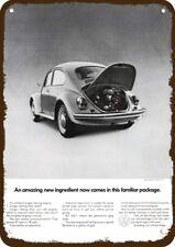 1970 VOLKSWAGEN VW BEETLE Vintage Look Replica Metal Sign  LONGER LASTING ENGINE
