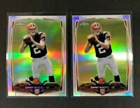 Johnny Manziel 2014 Topps Chrome #169 Refractor RC Cleveland Browns