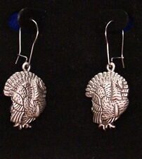 Pewter Fat Turkey Dangle Earrings by Empire Pewter