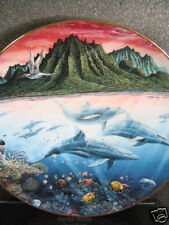 Danbury Mint 1991 Hawaiian Muses Whales Fish Ltd Seagull Ltd Ed Plate