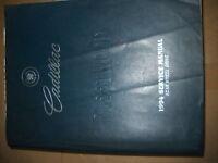1994 GM Cadillac FLEETWOOD Service Repair Workshop Shop Manual OEM FACTORY 1994