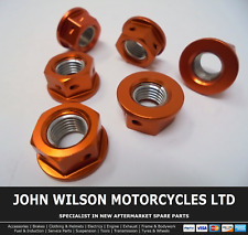 Honda VTR 1000 SP2 2004 Orange Aluminium Race Sprocket Nuts