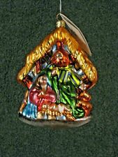 Christopher Radko Away in The Manger Gem Glass Ornament 1020242