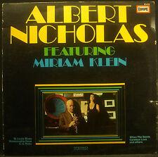 LP  ALBERT NICHOLAS - featuring Miriam Klein
