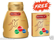 Revital H Daily Health Supplement with Minerals Vitamins Ginseng 30 Capsules