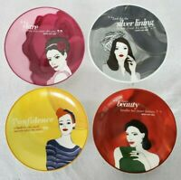 Mary Kay Plates Set Of ( 4 )  Four Designs  Dessert Plates Modern Women Quotes