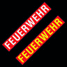 2x Feuerwehr ✔ Aufkleber ✔ 15cm ✔ Auto ✔ Fun Sticker ✔ Weiß + Gelb ✔