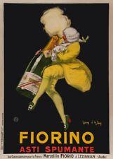Fiornio ASTI SPUMANTE, anni 1920, Jean d'ylen, 250gsm Poster Art Deco A3