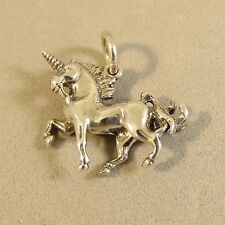 .925 Sterling Silver 3-D UNICORN CHARM NEW Pendant Fantasy 925 MY22