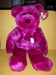 TY BEANIE BUDDIES VALENTINA BEAR LARGE 14 INCH PLUSH STUFFED ANIMAL 2001