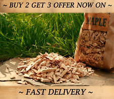 MAPLE Smoking Wood Chips,BBQ or Food Smoker wood chips 5 Litre BEST FLAVOUR WOOD