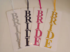 Diamante BRIDE Suitcase Tag in Pink, Gold, Black OR Silver, Luggage Tag