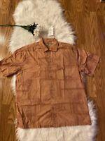 Batik Bay Men's Short Sleeve Button Down Tropical Shirt Size L Cotton Hawaiian