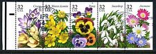 US #3025- #3029a  Garden Flowers USED Booklet Pane of 5 With Tab