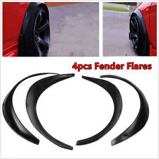 4In1 Black Polyurethane Durable Flexible Autos Automobile Exterior Fender Flares