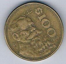 1990 MEXICO MEXICAN $100 PESO COIN EAGLE SNAKE