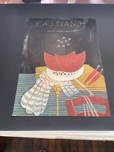 Alekos Fassianos poster Very Rare Hamburg Art Print 1976 Gallery Germany
