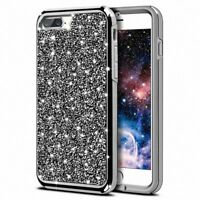 Luxury Lady Bling Diamond Slim TPU Hard Back Case Cover For iPhone X 6S 7 8 Plus