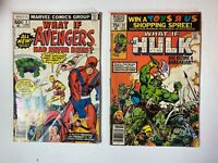 What If? Lot of 2 Comics: Issues 3 & 23 Marvel Low Grade