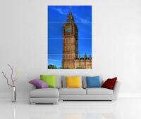 BIG BEN LONDON PARLIAMENT GIANT WALL ART PICTURE PRINT POSTER G80